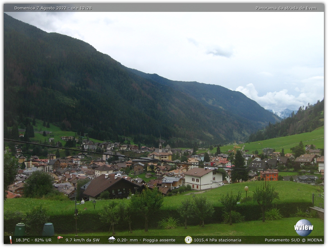 Webcam Moena panorama strada de Even